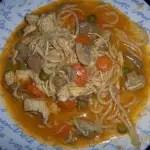 Pollo con espaguettis en Thermomix