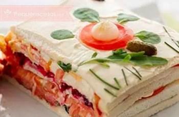 pastel de salmón y atún - Pastel de verano con pan de molde