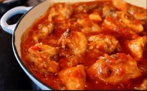 pollo al chilindrón con thermomix - Carne con Thermomix