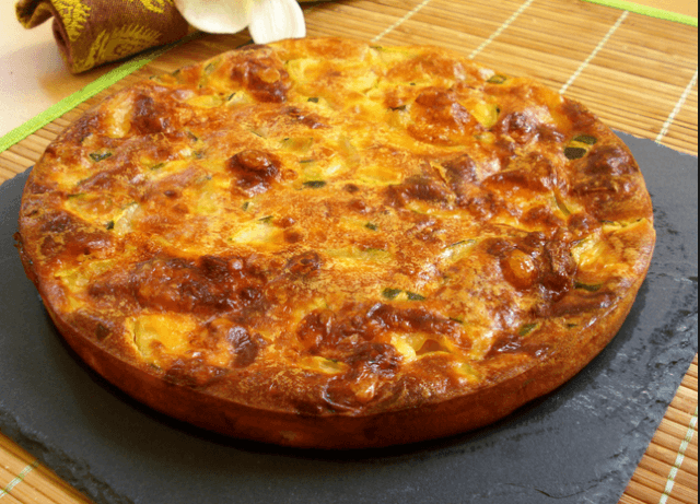 tarta de calabacin - Reciclaje de verduras con cuscus