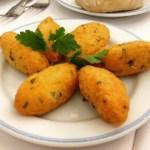 pasteles de bacalao - Receta de paella de pollo