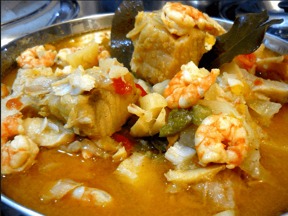 caldereta bacalao portugal - Caldereta de pescado y marisco