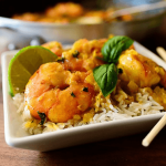 Curry de gambas con Thermomix