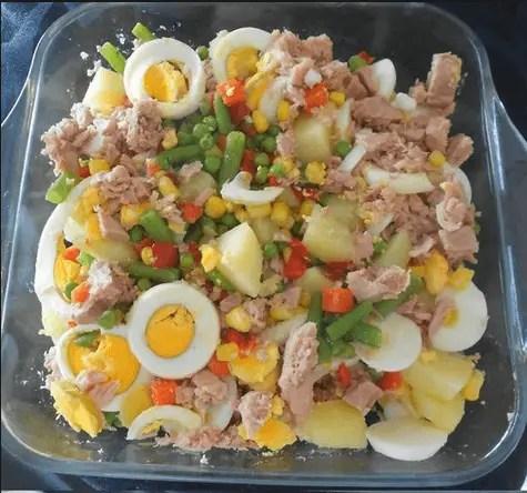 ensalada rusa a mi manera - Menu express de ensaladadilla rusa