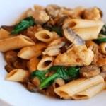 Pasta con champiñones y pollo – recetas para niños