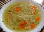 Sopa con fideos vegetariana - recetas para niños