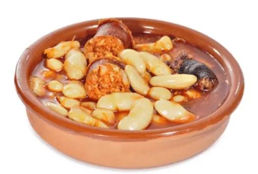 fabes con chorizo - Pollo con almendras en Thermomix