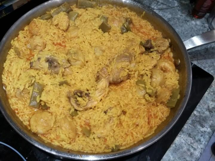 paella de arroz con pollo - Receta de paella de pollo