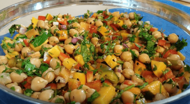 Reciclaje de comida – ensalada agridulce de garbanzos