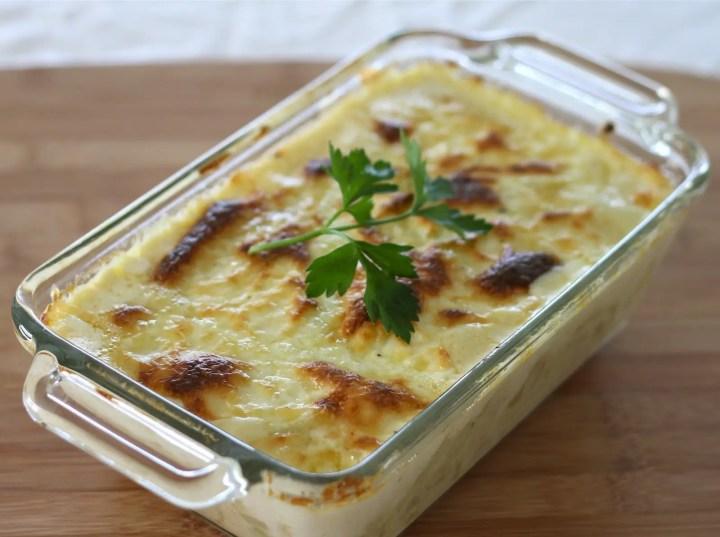 pasta con bechamel 1024x764 - Aprovechamiento de restos de pasta con salsa bechamel