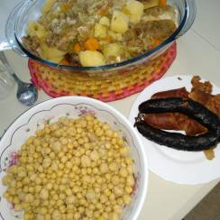 cocido madrileño - Cocido madrileño en olla JRD eléctrica