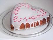 bizcocho san valentin - Tarta o bizcocho del dia de los enamorados