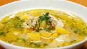 Sopa portuguesa açorda de bacalao - Sopa de bacalao a la portuguesa con consomé