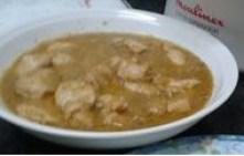 Pollo Al vapor Con salsa de Naranaja