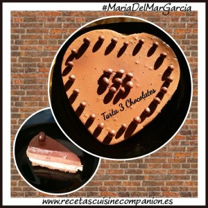 Tarta 3 chocolates Maria del mar garcia