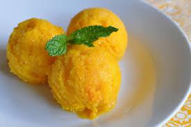Helado de mango mexicano