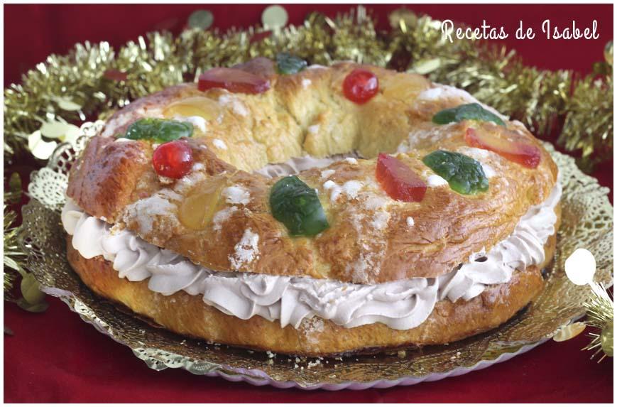 Roscón de Reyes casero relleno de trufa - Recetas de Isabel
