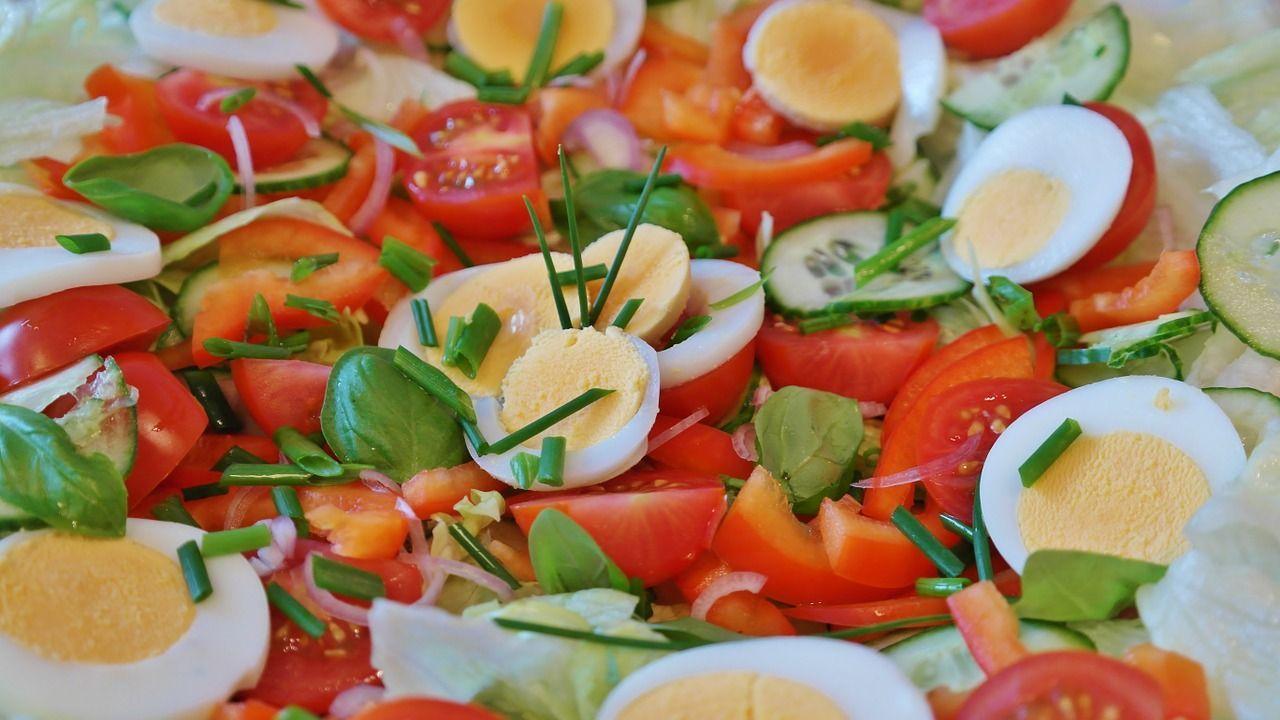 Tipos de vinagre - Ensalada de huevo