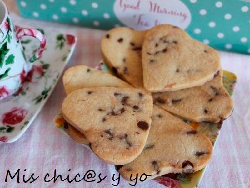 Galletas caseras con chips de chocolate