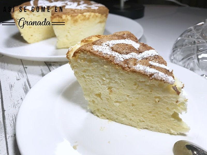 Tarta de queso esponja