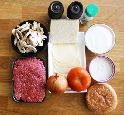 Ingredientes hamburguesa de ternera