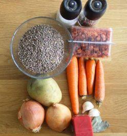 Ingredientes para hacer lentejas