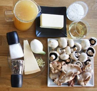 ingredientes risotto setas shiitake
