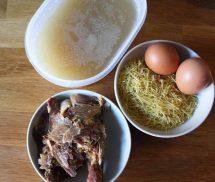 ingredientes para hacer sopa de fideos