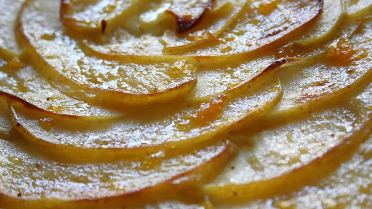 Tarta de manzana muy fina, ¡deliciosa!
