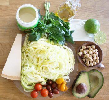 ingredientes para hacer pasta de calabacin