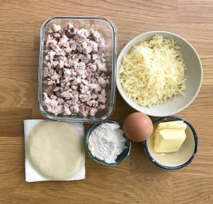 ingredientes para hacer empanadillas de pollo al horno
