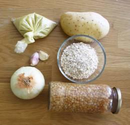 ingredientes para hacer hamburguesa de lentejas