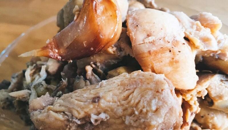 Pollo al ajillo tradicional, como lo hacía la abuela