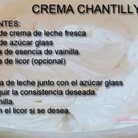 Receta crema chantilly
