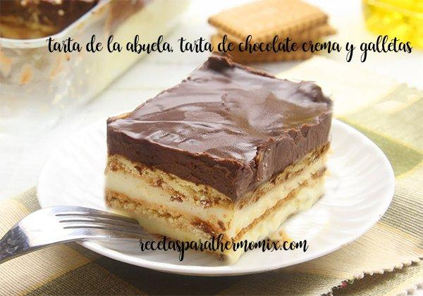 Tarta de Chocolate y galleta, tarta de la abuela con thermomix