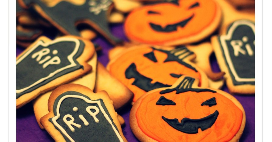 Galletas de Mantequilla decoradas para Halloween