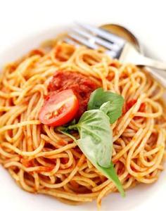 como preparar espagueti rojo