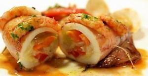 calamares rellenos con jamon