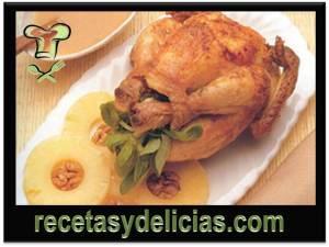 receta de pollo con piña