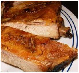 receta de costillas de cerdo asadas al horno