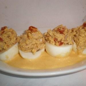 164ee9e13779991f53bd1f9e15f55ae5 - ▷ Huevos rellenos de atún y chorizo 🥚 🐟