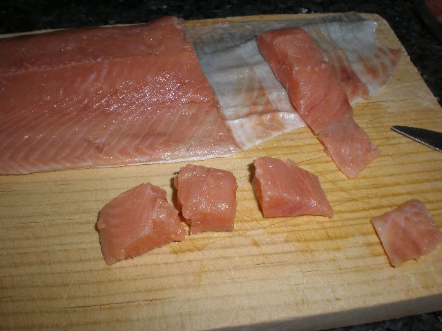 Partir salmón salvaje