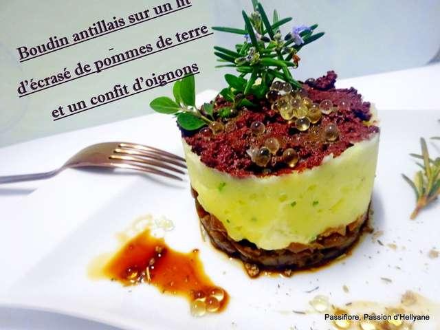 recettes de boudin noir et oignons
