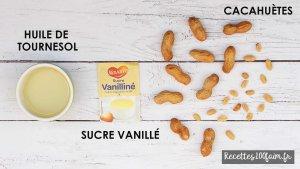 ingredients beurre de cacahuetes