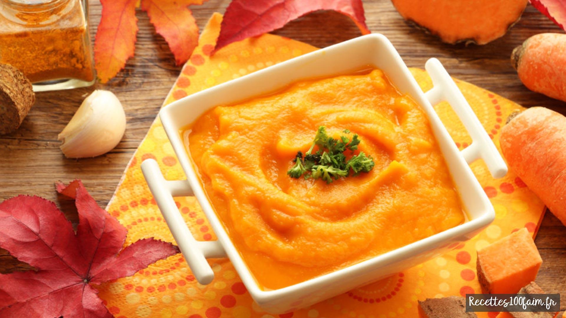 Recette soupe de patates douces et carottes