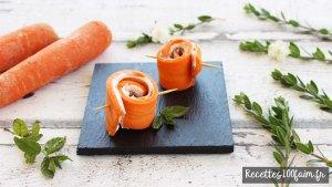 roules de carotte au jambon et fromage frais