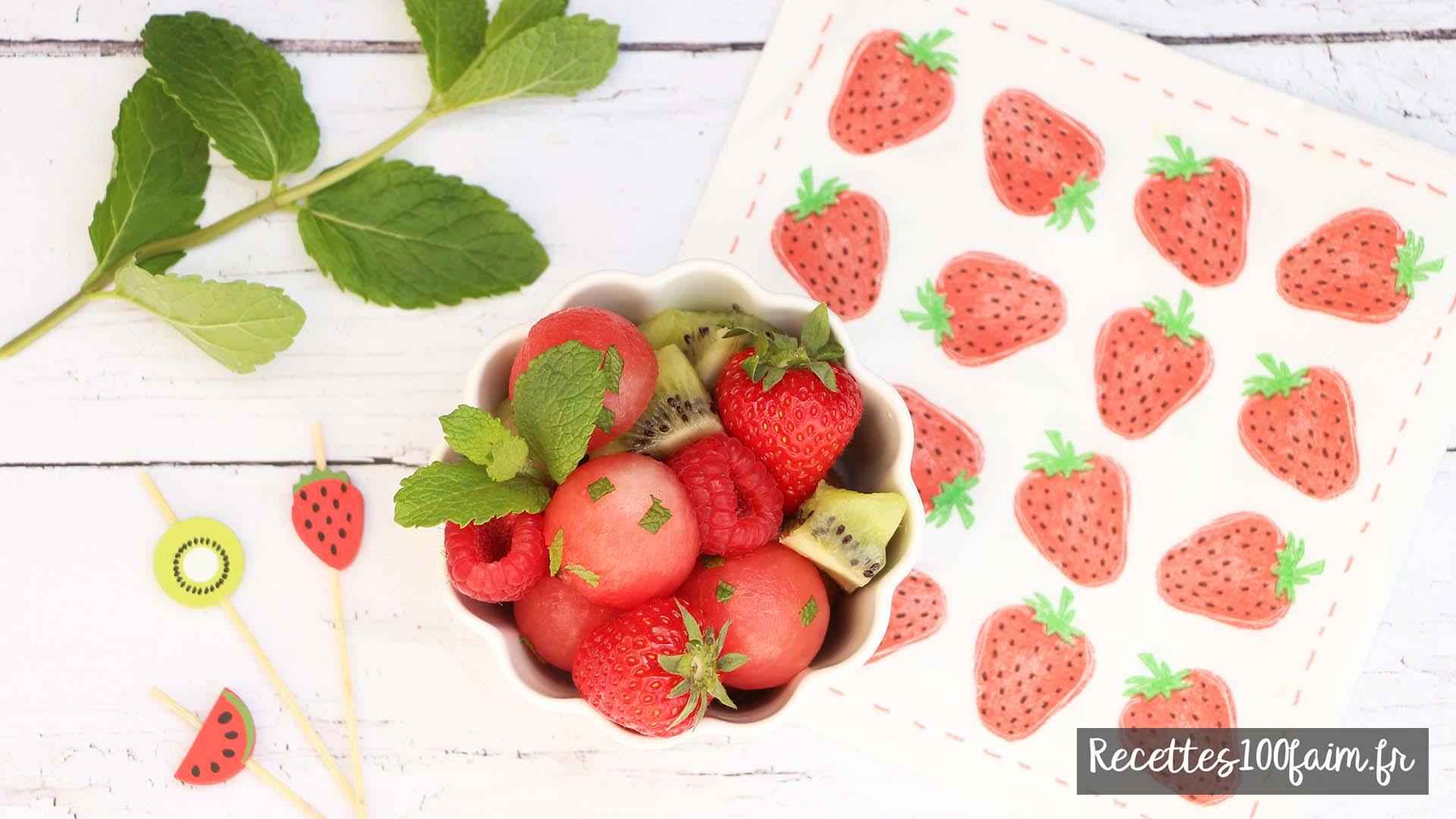 salade de fruits pasteque kiwi framboise fraise framboise