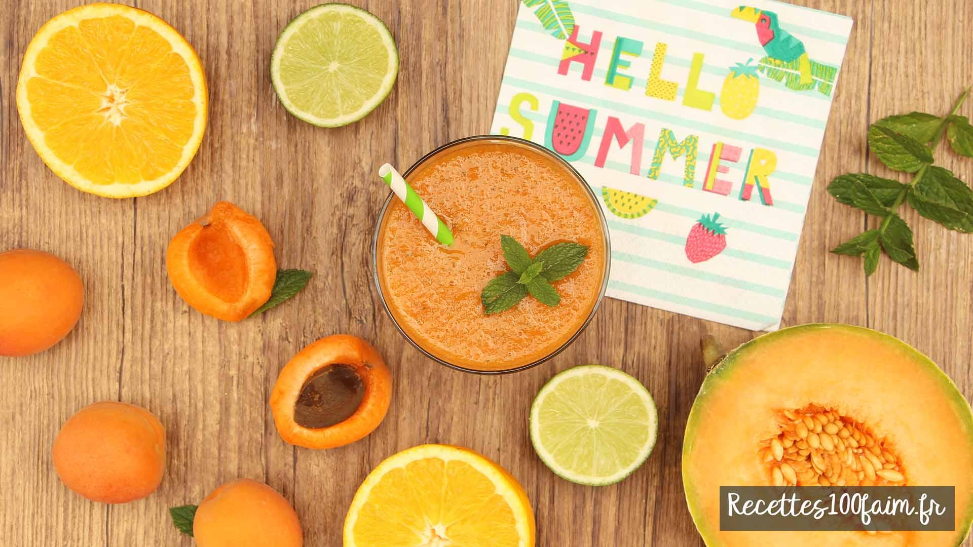 recette smoothie melon abricot