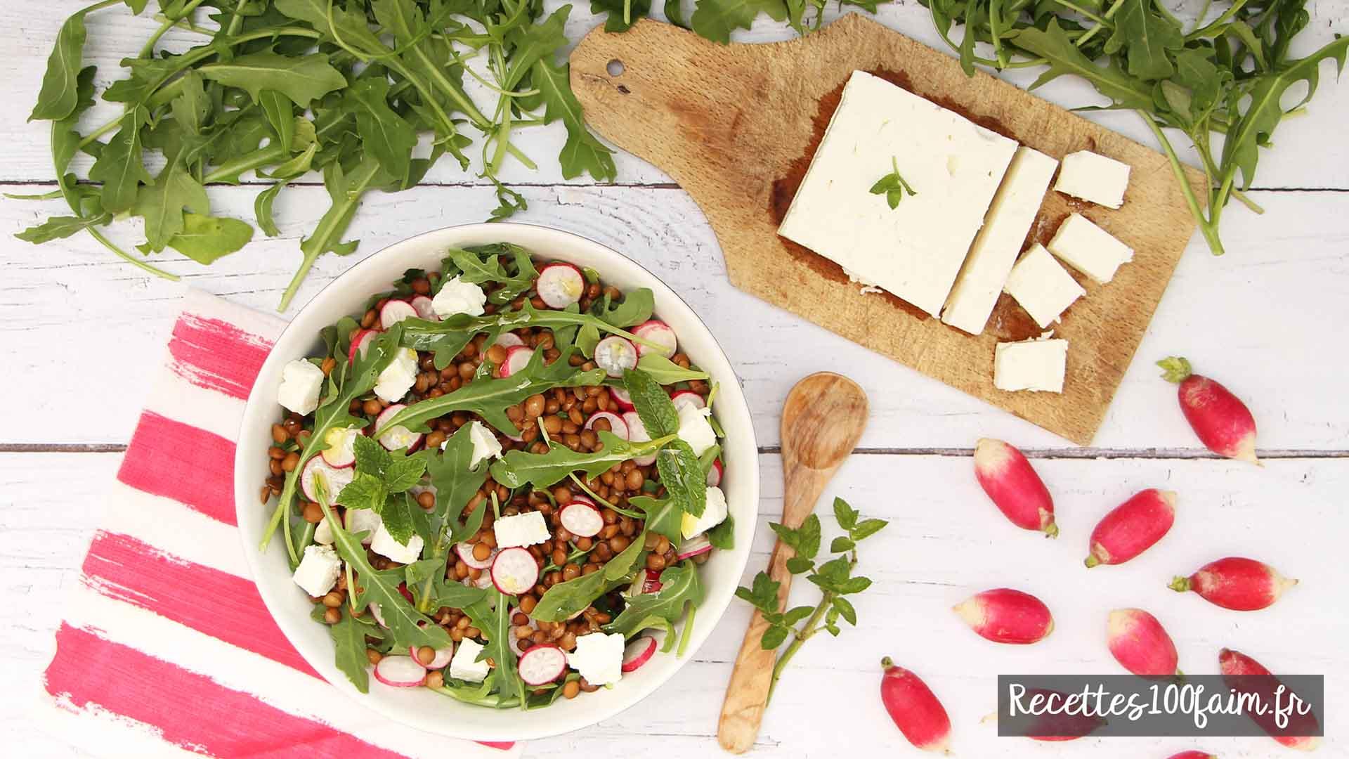 recette salade lentille radis feta