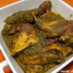 Le Saka-saka, cap sur le Congo pour découvrir un plat traditionnel à base de feuilles de manioc pilées et de sauce graine (pulpe de fruits de palmier à huile).